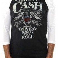 ROCKWORLDEAST - Johnny Cash, Baseball Jersey Shirt, Rock N Roll