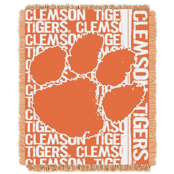 Clemson Tigers NCAA Triple Woven Jacquard Throw (Double Play Series) (48x60)