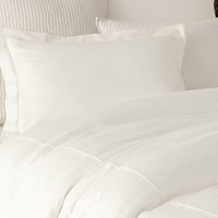 PB ESSENTIAL DUVET COVER, FULL/QUEEN, WHITE