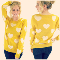 Heart to Heart Honey Yellow Sweater
