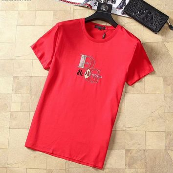 Dolce&Gabbana D&G Fashion Red T-Shirt Top Tee