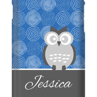 Personalized Circle Print with Owl iPhone 6 Slim Case