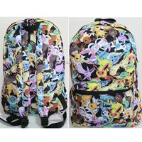 Licensed cool Pokemon GO EEVEE Evolutions Character All Over Toss Backpack School Book Bag NEW