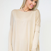 Billowy Bamboo Knitted Top Piko1988