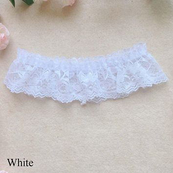 2Pcs Fashion Sexy Design Women Girl Lace Floral Wedding Party Bridal Lingerie Cosplay Leg Garter Belt Suspender