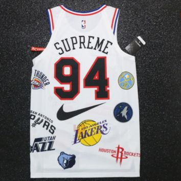 Nike x NBA x Supreme co-branded vest sports casual suit F-Great Me Store White