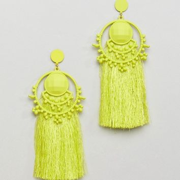 Bershka Bead And Tassel Earring at asos.com