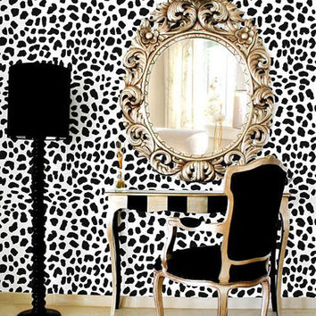 Leopard Skin Pattern Stencil - Large - reusable stencil patterns for walls just like wallpaper - DIY decor