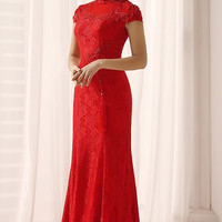 Chinese Wedding Ball Gown Bridal Cheongsam Long Prom Qipao