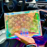 LV New fashion monogram laser handbag clutch bag