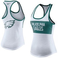 Women's Nike White Philadelphia Eagles Performance Tank Top
