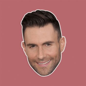 Happy Adam Levine Mask by RapMasks