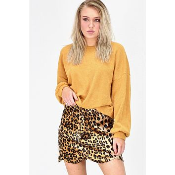 Wild at Heart Leopard Skirt {Brown Mix}