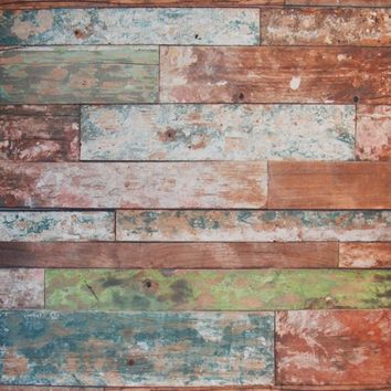 Wood Planks With Green And White Paint Chips Backdrop 5x7 - LCCFSL337 - LAST CALL