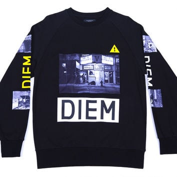 DIEM Knit Sweatshirt Hells Kitchen In Black