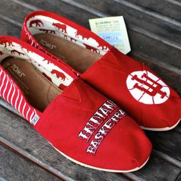 Indiana University TOMS by BStreetShoes on Etsy