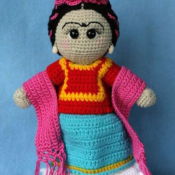 Elfin Thread- Frida Kahlo Amigurumi Doll PDF Pattern (Crochet Frida Kahlo Doll)