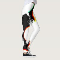 Smudges Abstract Art Design Leggings
