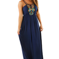 On The Road Again Maxi Dress: Navy