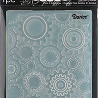 Darice EB12-17-54 Embossing Folder 4.25 in. x 5.75 in.-Steam Punk Gears