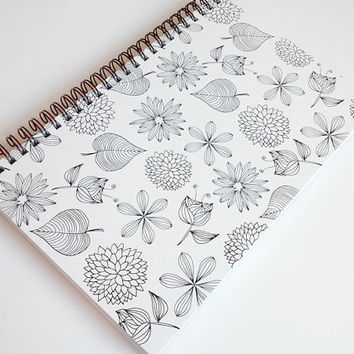 Weekly undated planner, notebook, year planner, daily agenda, organizer, calendar, day planner, black and white planner,  5 1/2 x 8 1/2