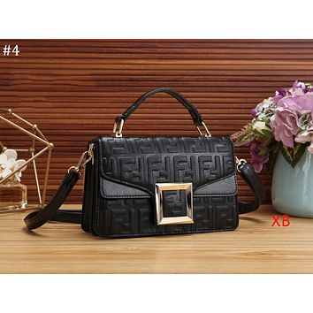 FENDI 2018 new double F embossed letters women's fashion flip bag shoulder bag Messenger bag #4