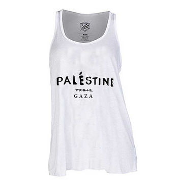 Palestine Celine Paris GAZA for Tank Top Mens and Tank top Girls