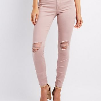 Refuge Skin Tight Legging Destroyed Jeans | Charlotte Russe