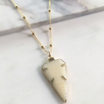 16k Gold Tribe Arrowhead Necklace