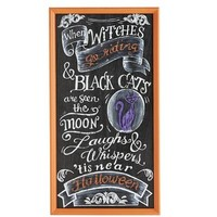 Witches Riding Chalkboard Sign