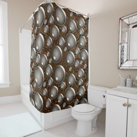 Bubbles Design Shower Curtain