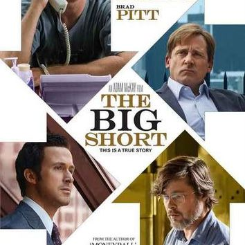 The Big Short Movie Cast Poster 11x17