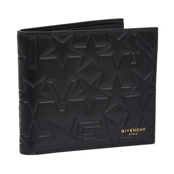 Black Emboss Print Wallet by Givenchy