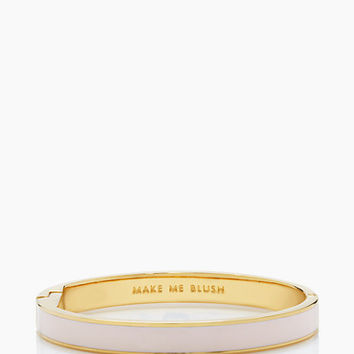 Kate Spade Make Me Blush Idiom Bangle Pale Pink ONE