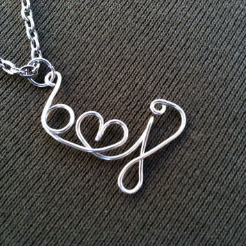 Sweatheart Necklace - Initials with Heart - Love Couple