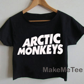 New Arctic Monkeys Band Printed Crop top Tank Top Women Black and White Tee Shirt - MM1
