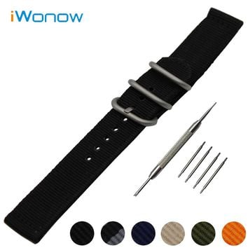 Nylon Watch Band 18mm 20mm 22mm 24mm for Fossil Stainless Steel Pin Buckle Strap Wrist Belt Bracelet Black Blue Green Orange