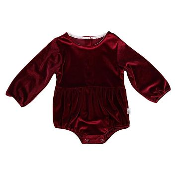 New Autumn Infant Newborn Cute Kids Baby Girl Flannel Romper Jumpsuit Long Sleeve Outfits
