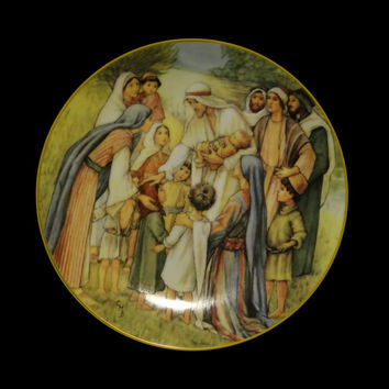 1989 Love Divine Plate by Cicely Mary Barker #3982A w/ Certificate and Original Box