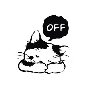 KAKUDER Switch Wall Sticker Room Window Decorating Sleeping Cat OFF Vinyl Decal Stickers Cartoon DIY Removable Happy Sale ap425