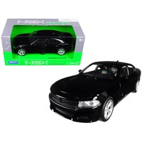 2016 Dodge Charger R-T Black 1-24 - 1-27 Diecast Model Car by Welly