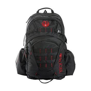 Ruger Chandler Backpack,Black/Red