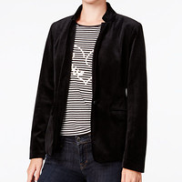Maison Jules Velvet Blazer, Only at Macy's - Jackets - Women - Macy's