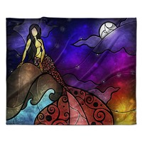 "Mandie Manzano ""Fairy Tale Mermaid"" Fleece Throw Blanket"