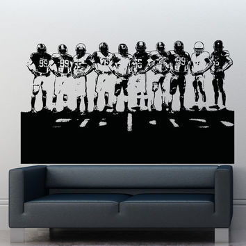 Vinyl Wall Decal Sticker Football Team #5085
