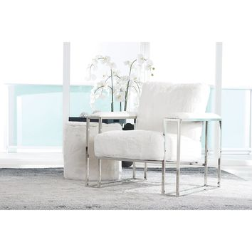 STATE ST WHITE UPH ACCENT CHAIR | Home Accents - Accent Chairs | City Furniture