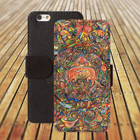 Mandara flowers iphone 5/ 5s iphone 4/ 4s iPhone 6 6 Plus iphone 5C Wallet Case , iPhone 5 Case, Cover, Cases colorful pattern L038