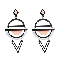 Lazy Eyed Drop V Earrings