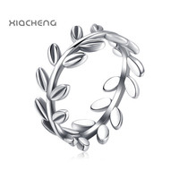 2016 100% 925 sterling Silver Women Wedding Rings with Full Leaves Ring Fit Pandora Women Jewelry Wedding&Party Rings R62