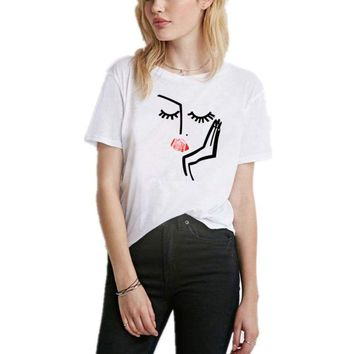 Summer Women Face Tee Shirt